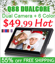 Cheap Q88 Allwinner A23 DualCore Tablet PC Free Shipping