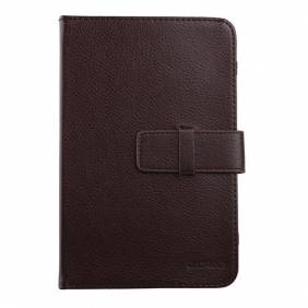 Universal Brown 7 inch Tablet PC Leather Case Protector Cover