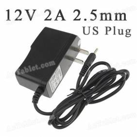 Universal 12V 2A 2.5mm US Power Supply Adapter Charger for Android Tablet PC MID