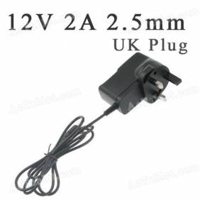 Universal 12V 2A 2.5mm UK Power Supply Adapter Charger for Android Tablet PC MID