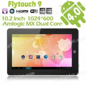 FlyTouch 9 SuperPAD IX Dual Core Tablet PC 10.1 Inch Amlogic M6 1.6 GHz Android 4.1 GPS WIFI HDMI Camera