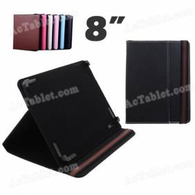 New 8 Inch Leather Case Cover with Adjustable Fixed Foot for Android Tablet PC MID
