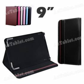 New 9 Inch Leather Case Cover with Adjustable Fixed Foot for Android Tablet PC MID