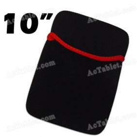 Black Soft Protect Cloth Pouch Bag for 10/10.1 Inch Tablet PC MID