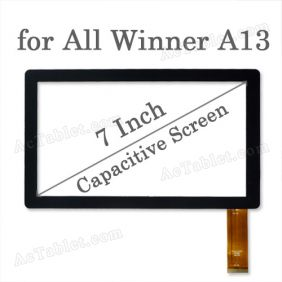ZHW028FPC-V4 Digitizer Glass Touch Screen Panel 7 Inch for Allwinner A13 MID Tablet
