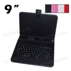 Universal 9 Inch Protective Leather Keyboard Case for Android Tablet PC MID (USB Port)