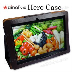 Leather Case Cover for Ainol Novo 10 Hero Tablet PC 10.1 Inch