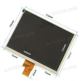 Replacement LCD Screen for Onda V801 Quad Core A31 Tablet PC