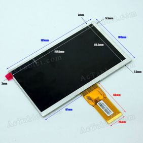 Replacement LCD Screen for Teclast P76a/P76t Dual Core RK3066 Tablet PC 7 Inch