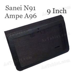 Leather Case Cover for Sanei N91 (Ampe A96) Elite AllWinner A13 Tablet PC 9 Inch