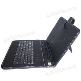 Leather Keyboard Case for PiPo Smart S2 RK3066 Dual Core Tablet PC 8 Inch