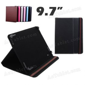 9.7 Inch Leather Case Cover for Ployer MOMO19HD Quad Core A31 Tablet PC