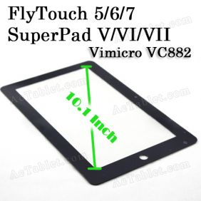 Replacement Touch Screen for FlyTouch 6/7/8 SuperPad VI/VII/VIII AllWinner A10 Tablet PC