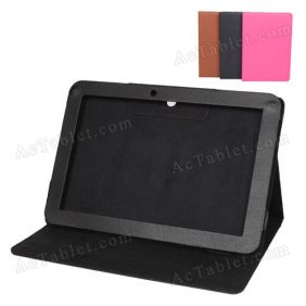 Leather Case Cover for Hyundai T10 Quad Core Tablet PC 10.1 Inch