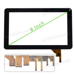 Digitizer Touch Screen for AIRIS OnePAD 90(ref. TAB09) 9 inch MID Android Tablet PC Replacement