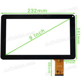 MF-587-090F FPC Digitizer Glass Touch Screen Panel for 9 Inch MID Tablet PC Replacement