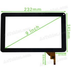 DR1574-B-01/03 Digitizer Glass Touch Screen for 9 Inch Allwinner A13 MID Tablet PC Replacement