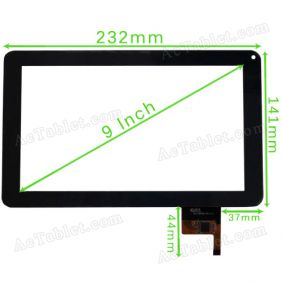 300-N3849B-A00-V1.0 Digitizer Glass Touch Screen for 9 Inch Allwinner A13 MID Tablet PC Replacement