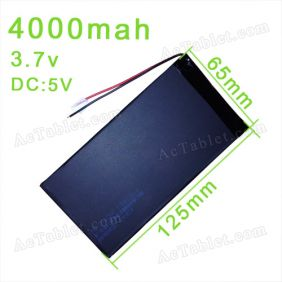 Replacement 4000mah Battery for Maxtouuch 9 inch Allwinner A13 MID Android Tablet PC