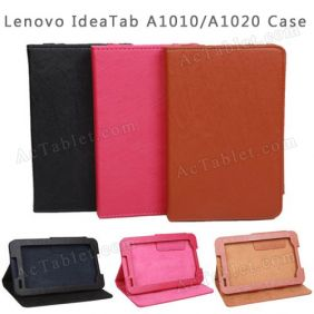 7 Inch Lenovo IdeaTab A1000/A1020/A3000 Tablet PC Folio Leather Case Cover Stand