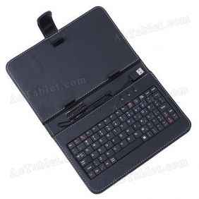 8 Inch Leather Keyboard Case for ICOO ICOU7W Allwinner A13 Tablet PC