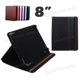 8 Inch Leather Case Cover for ICOO D80 Deluxe Allwinner A10 Tablet PC