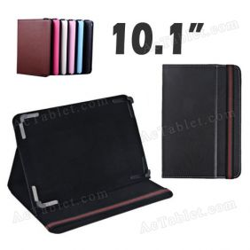 10.1 Inch Leather Case Cover for ICOO ICOU10 Dual Core AML8726-MX Tablet PC
