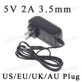 5V 2A Power Supply Adapter Charger for ICOO D50 Deluxe II Allwinner A13 Tablet PC 3.5mm