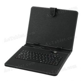 Leather Keyboard Case for Sumvision Cyclone Voyager 297 9.7 Inch Quad Core Tablet PC