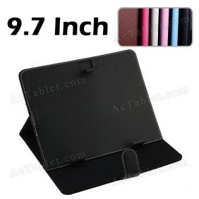 9.7 Inch PU Leather Case Cover Stand for SmartQ Ten3 T15 TI OMAP4430 Android Tablet PC