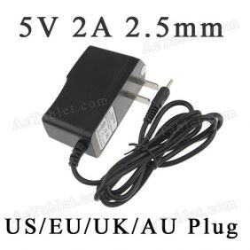 5V 2A 2.5mm Power Supply Charger for JXD S9100 Allwinner A13 Tablet PC