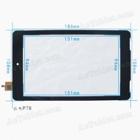 Replacement Touch Screen for Teclast P78 Dual Core Amlogic 8726-MX Tablet PC