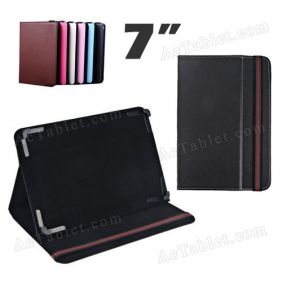 7 Inch Leather Case Cover for KNC MD717 MTK8377 Dual core Tablet PC