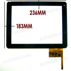 300-L3456B-A00_VER1.0 Digitizer Glass Touch Screen Panel Replacement for 9.7 Inch Tablet PC