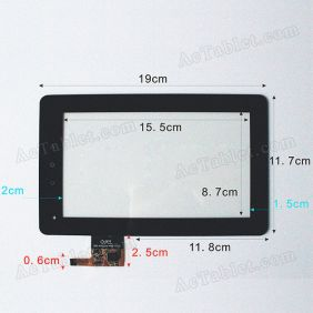 Touch Screen Digitizer Replacement for Gemei G3 Allwinner A10 Tablet PC 7 Inch 300-N3621A-A00-V1.0