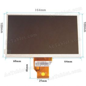LCD Display Screen for 7 Inch Gemei G3 Allwinner A10 Tablet PC Replacement