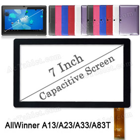 Digitizer Touch Screen Replacement for 7 Inch AllWinner A33/A23/A13 Q88 Q8 MID Tablet PC