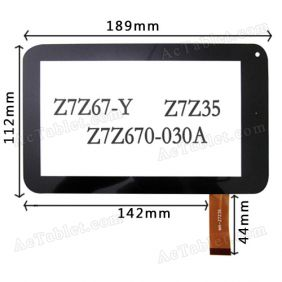 Digitizer Glass Touch Screen Panel for VIA WM8850 Tablet PC 7 Inch Replacement