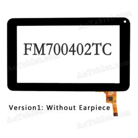 FM700402TB Digitizer Glass Touch Screen Panel for 7 Inch Tablet PC Replacement