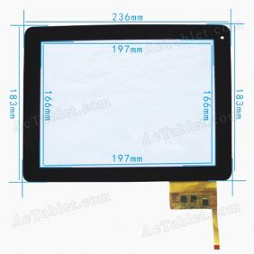 Touch Screen Digitizer Replacement for Newpad Newsmy S97 Dual Core RK3066 Tablet PC 9.7 Inch