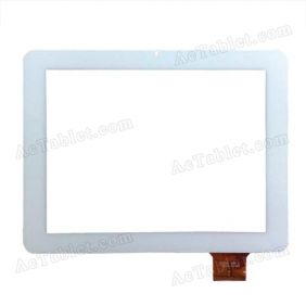 TPC0161 Digitizer Glass Touch Screen Panel for 9.7 Inch OEM Sanei Ampe Tablet PC