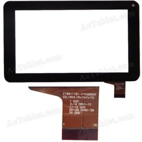 30Pin Digitizer Touch Screen for HKC M701 Tablet PC 7 inch C186111B1-FPC689DR