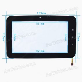 Digitizer Touch Screen for HKC M70 Tablet PC 7 inch