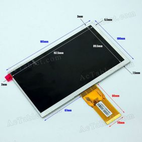 LCD Screen for HKC M76 RK3066 Dual Core Android Tablet PC Replacement