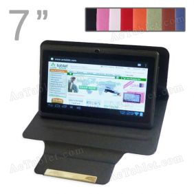 2013 New 7 Inch Leather Case Cover with Magic Sucker for Android Tablet PC MID