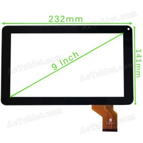 TPC0436 Digitizer Glass Touch Screen for Allwinner A13 MID Tablet PC 9 Inch Replacement
