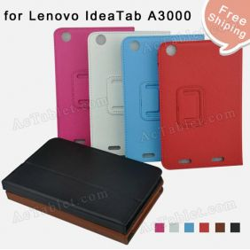 Original Leather Case Cover for Lenovo IdeaTab A3000 A3000-H Tablet PC + Screen Protector
