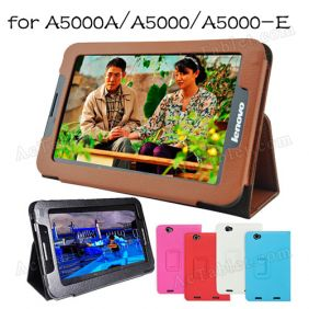 Original Leather Case Cover for Lenovo IdeaTab A5000 A5000A A5000-E Tablet PC + Screen Protector