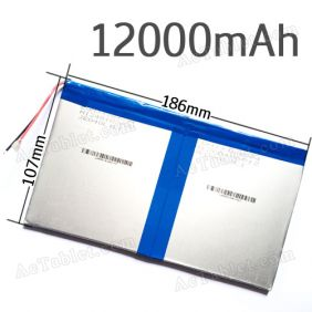 Universal 12000mAh Battery Replacement for 9.7/10.1 Inch Android Tablet PC 7.4V DC 9V/12V