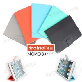 Ultra Thin Soft Waterproof Leather Case Cover for Ainol NOVO8 mini ATM7021 Dual Core Tablet PC 7.85""